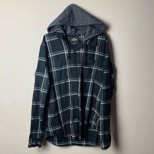 Other - Hooded Button Up Flannel